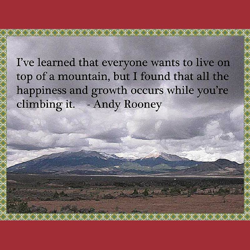 Andy Rooney: Everyone Wants to Live on the Mountaintop