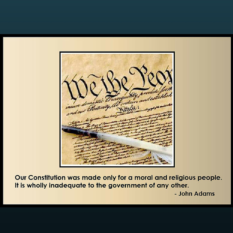 John Adams: Constitution for Moral and Religious People
