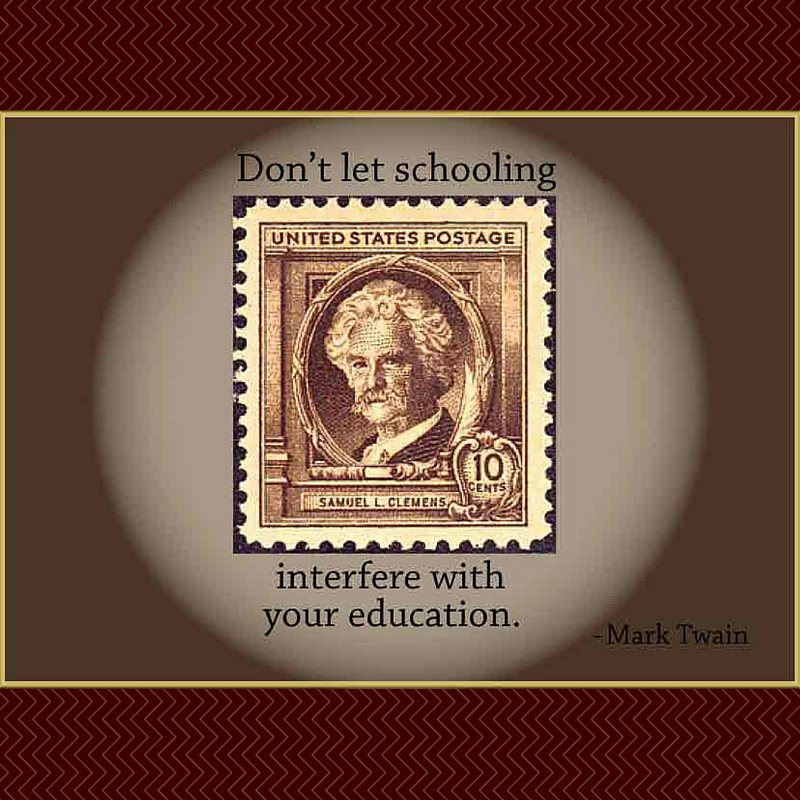 Mark Twain: Education is Important