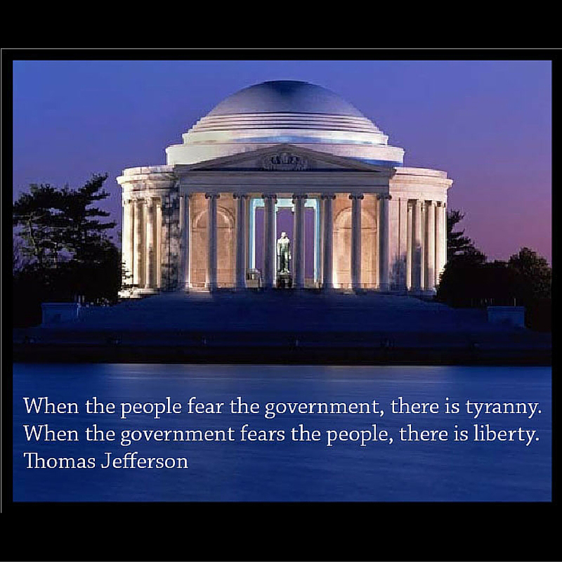 Thomas Jefferson: Avoid Tyranny Cling to Liberty