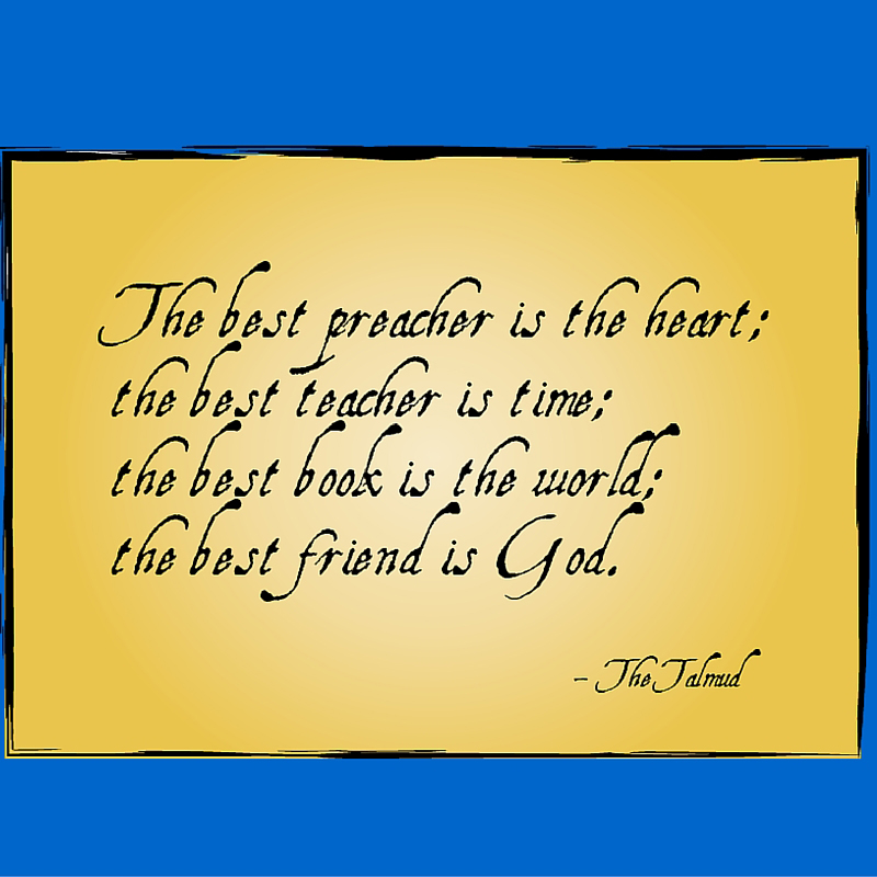 From the Talmud: The Best Friend is God